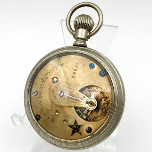 New York Standard Watch Co. Grade Worm Escapement Pocket Watch Image