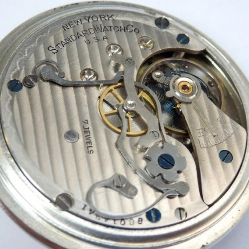 New York Standard Watch Co. Grade Chronograph Pocket Watch Image