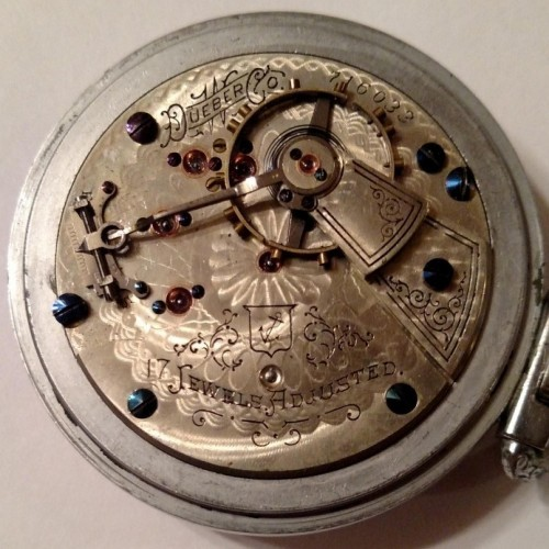 Hampden Grade Anchor (in shield) Pocket Watch