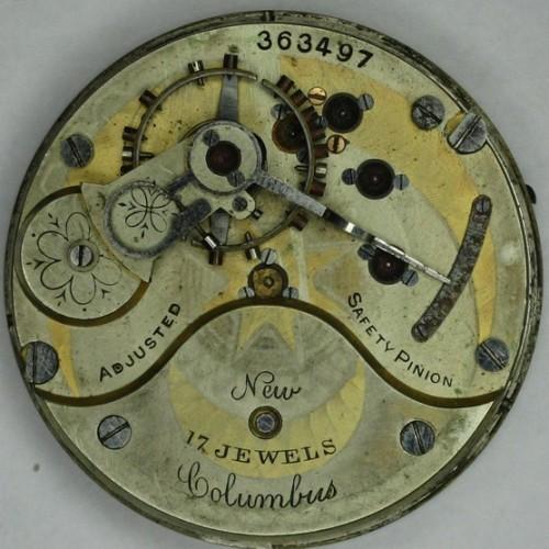 Columbus Watch Co. Pocket Watch Grade Unknown #363497
