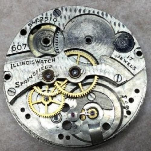 Illinois Grade 607 Pocket Watch Image