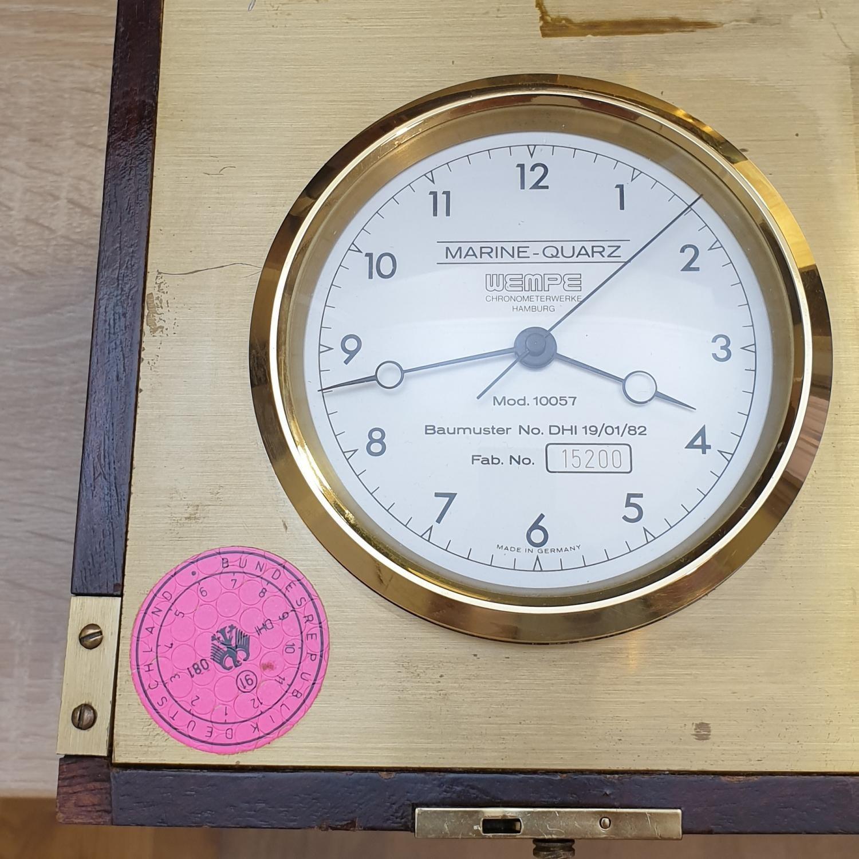Image of Other WEMPE Quartz marine chronometer model 10057 s/n:15200 #15200 Dial