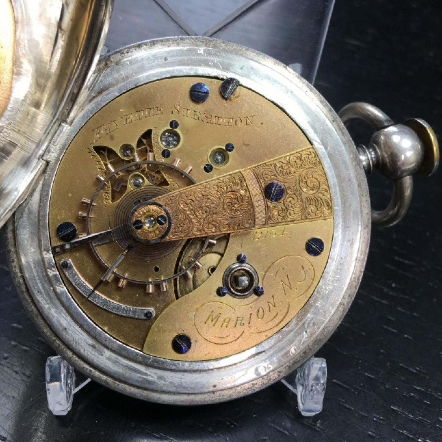 Image of U.S. Watch Co. (Marion, NJ) Fayette Stratton #2134 Movement