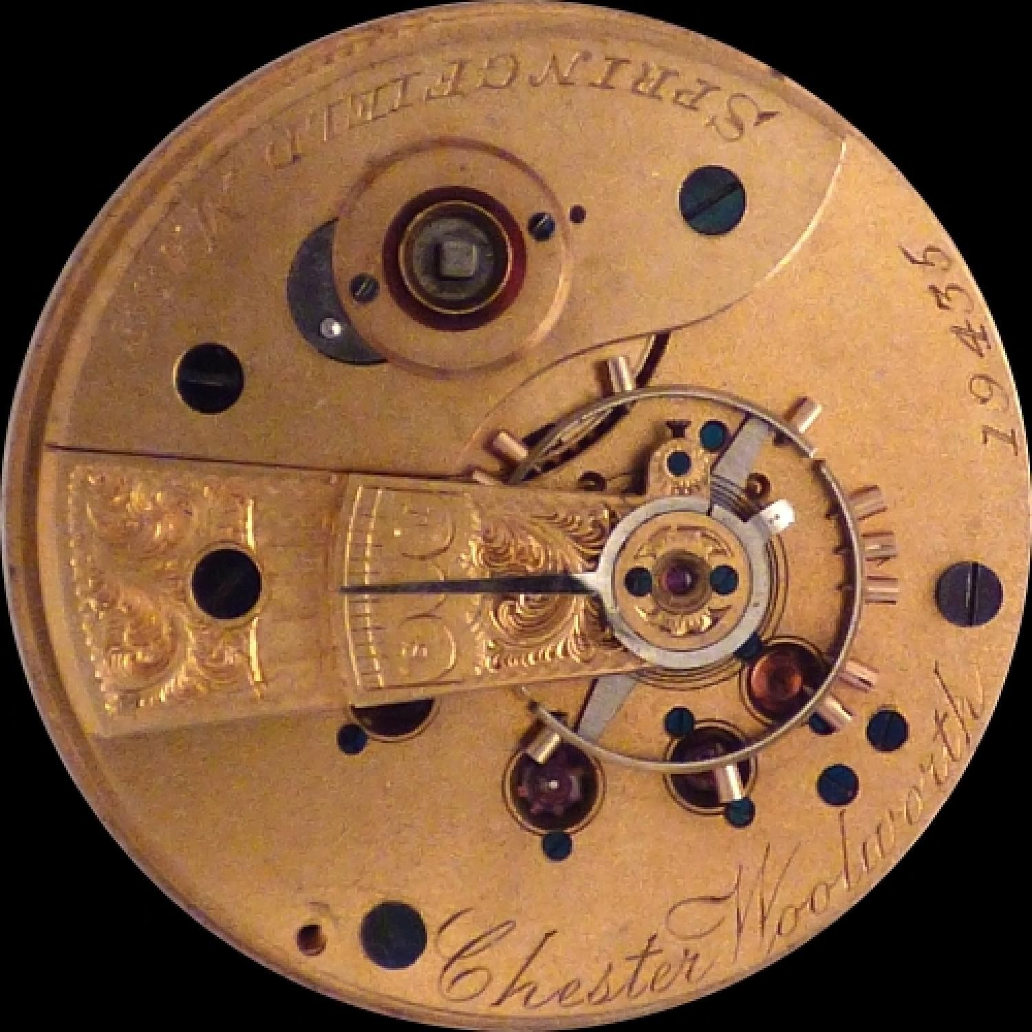 Image of New York Watch Co. Chester Woolworth #19435 Movement