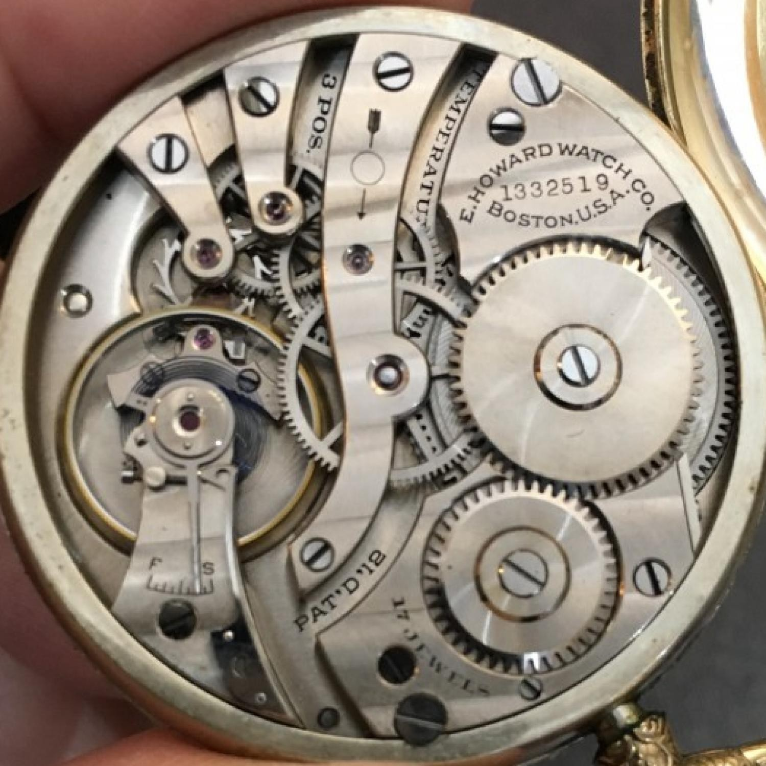 Image of E. Howard Watch Co. (Keystone) Series 7 #1332519 Movement