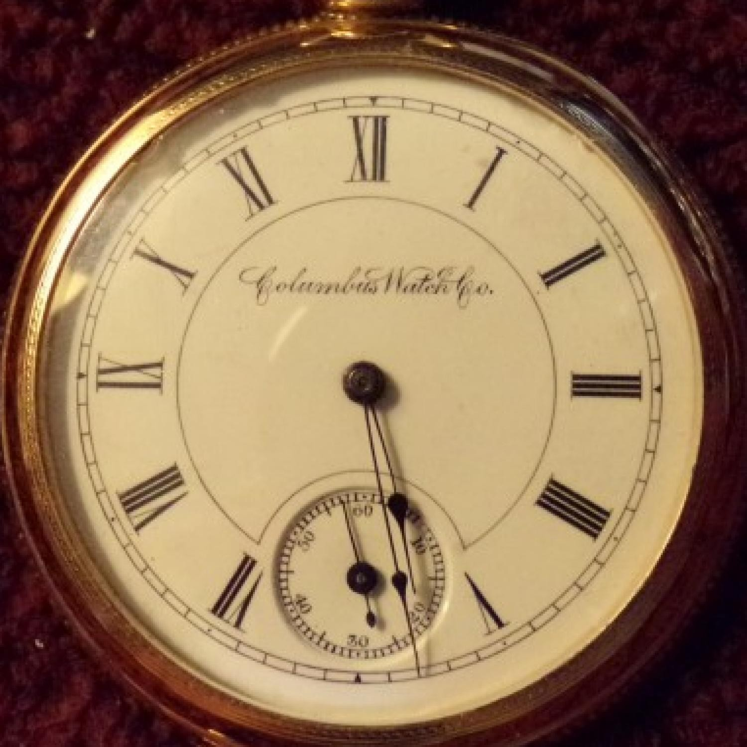 Image of Columbus Watch Co. Unknown #134028 Dial