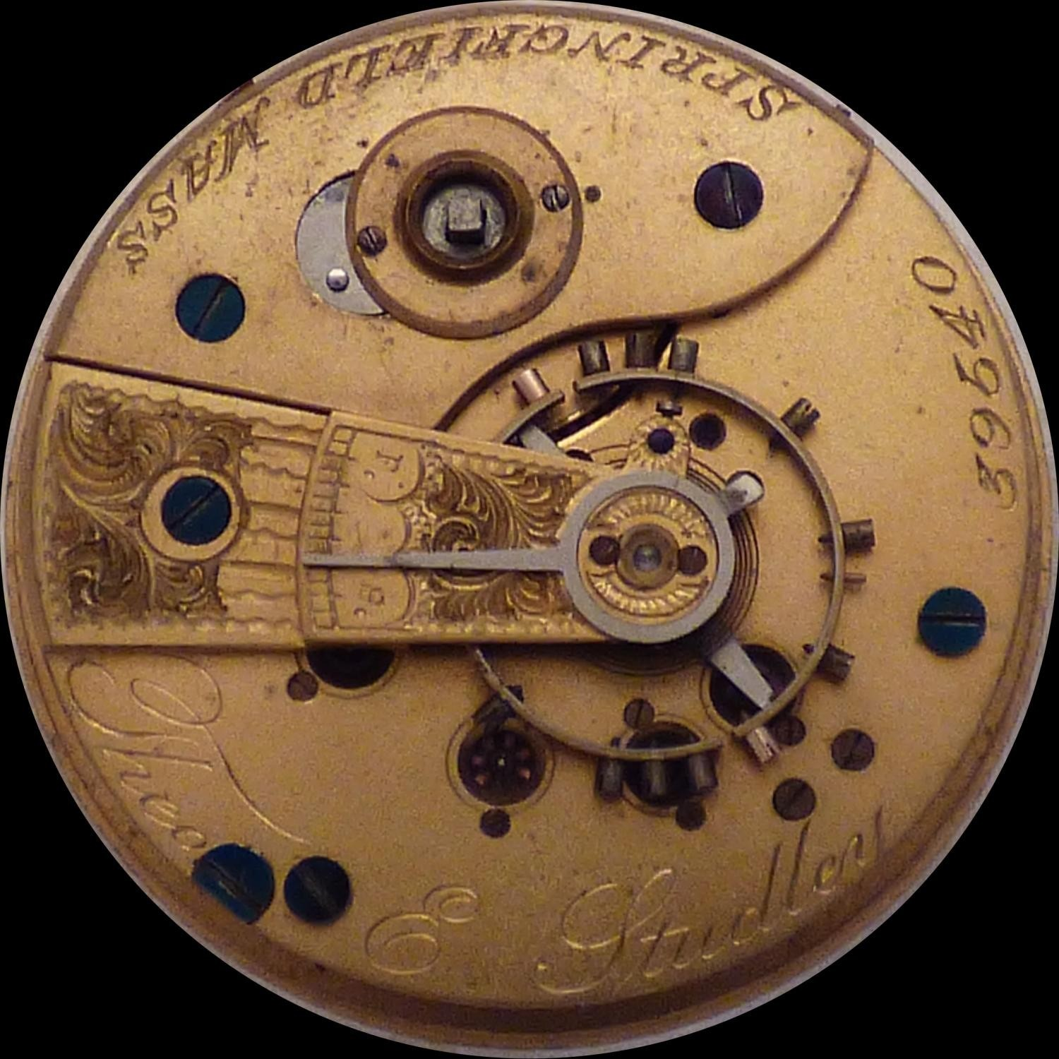 Image of New York Watch Co. Theo E.  Studley #39540 Movement