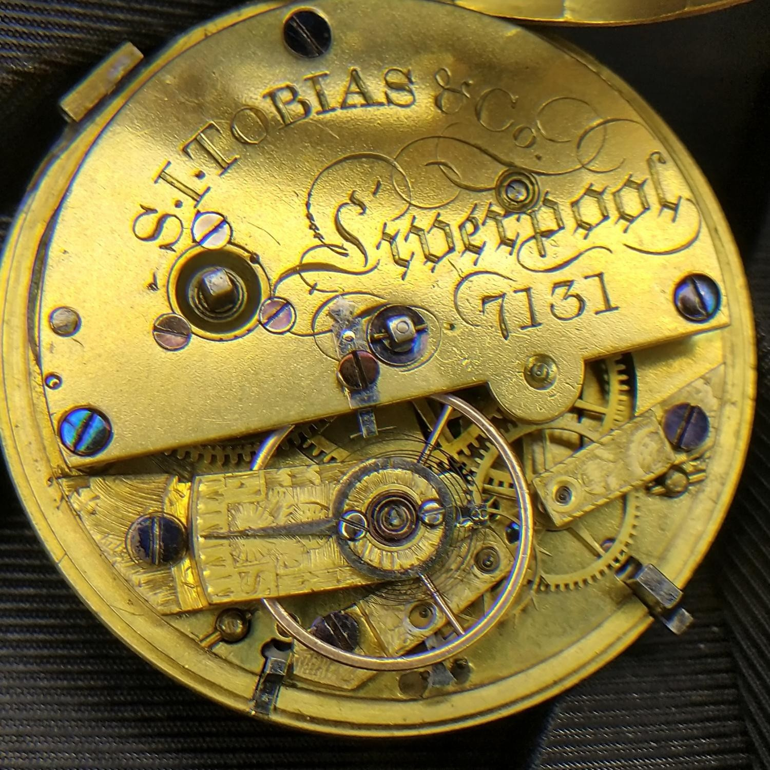 Image of Other S.I. TOBIAS & Co. Mid 1800's #7131 Movement
