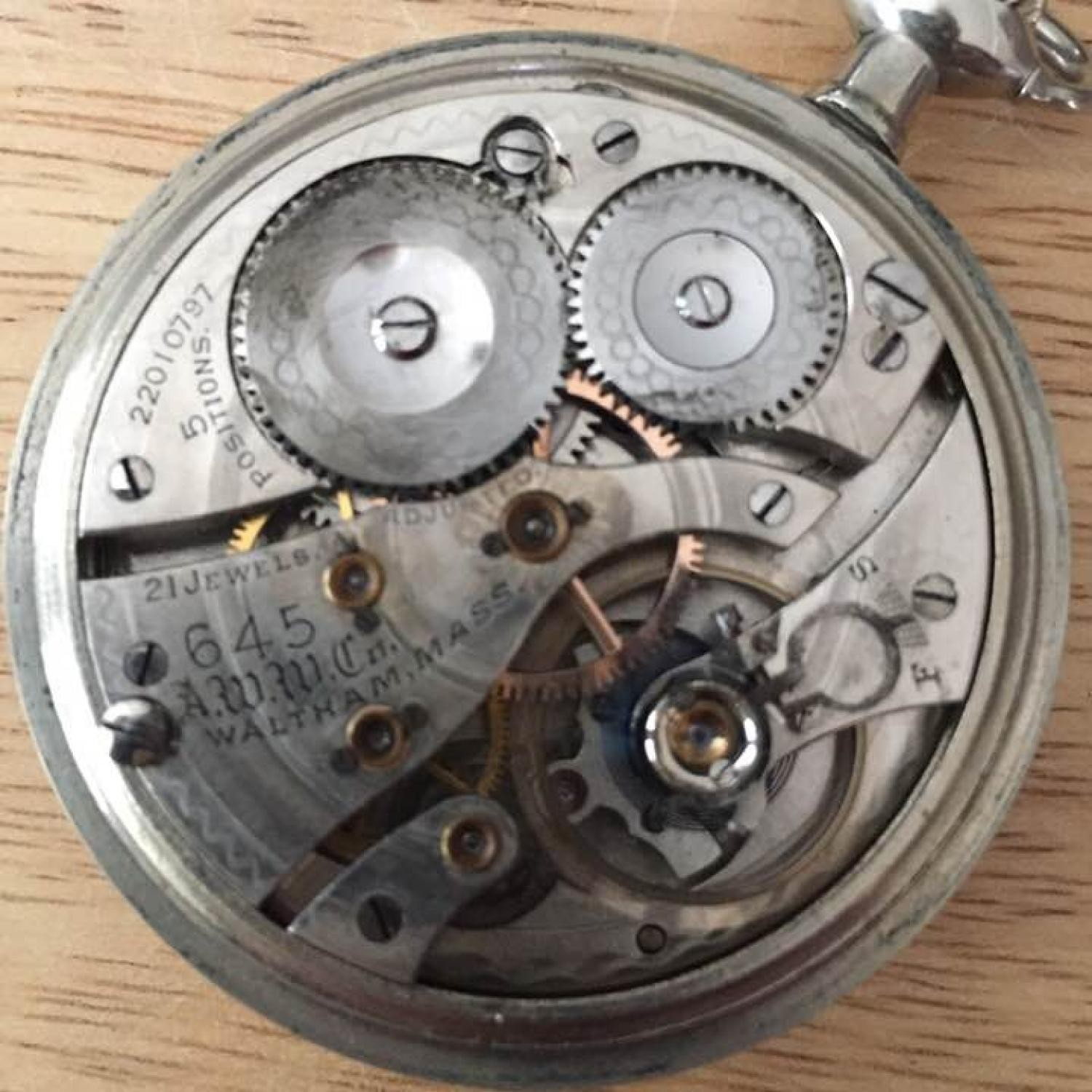 Image of Waltham No. 645 #22010797 Movement