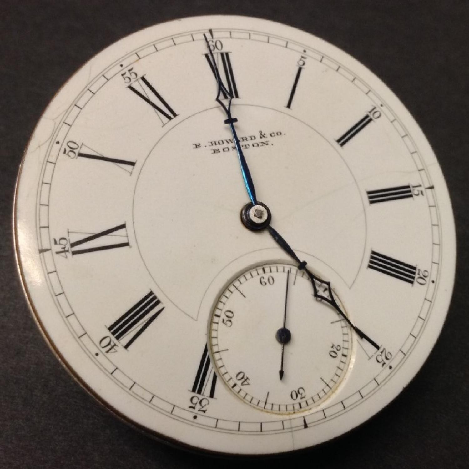 Image of E. Howard & Co. Series VII #203590 Dial
