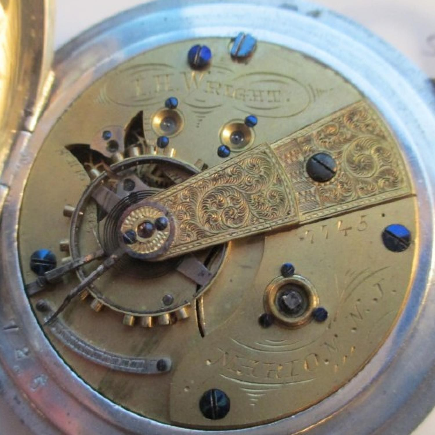 Image of U.S. Watch Co. (Marion, NJ) I.H. Wright #7745 Movement