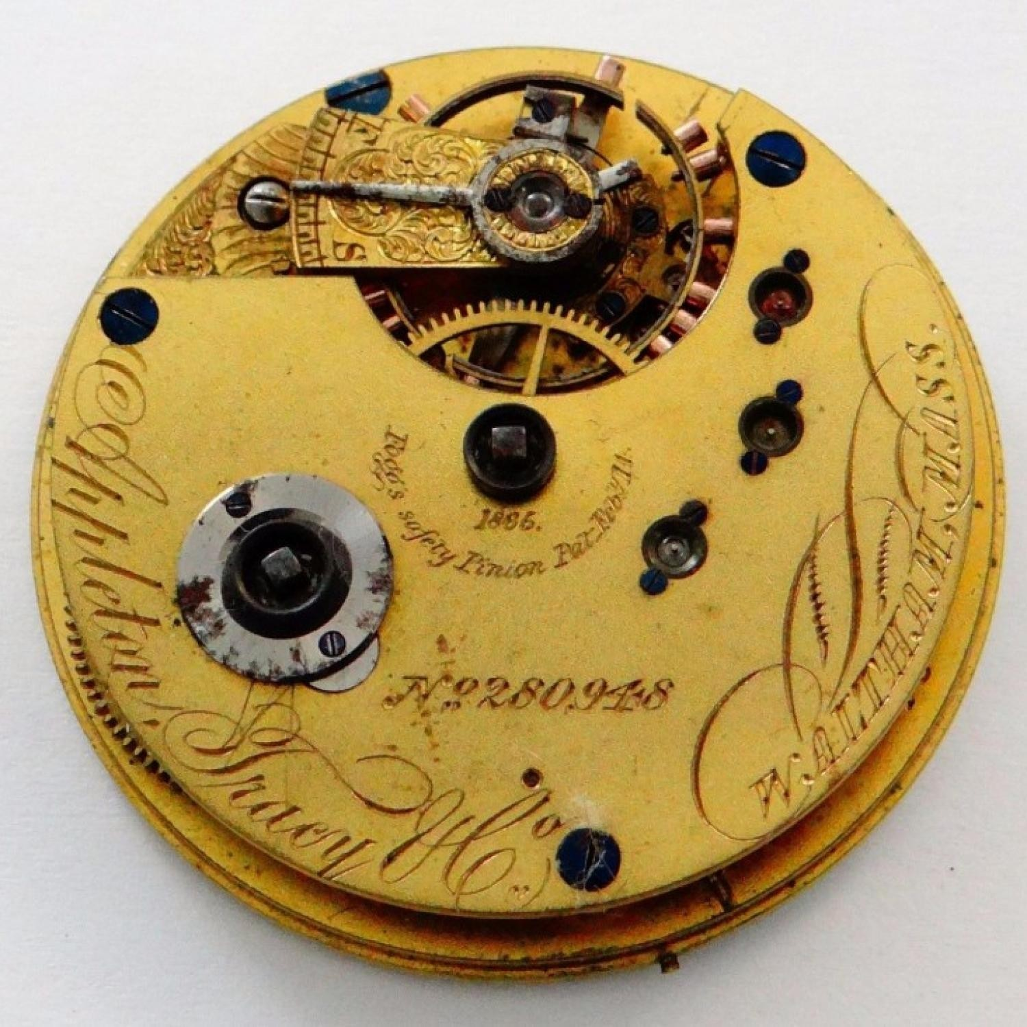 Image of Waltham A.T. & Co. #280948 Movement