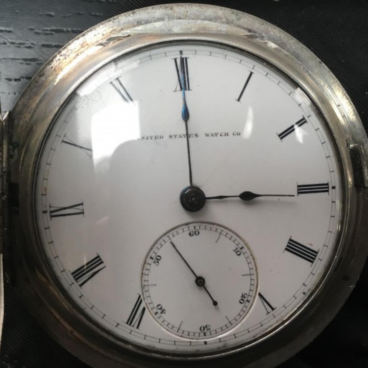 Image of U.S. Watch Co. (Marion, NJ) I.H. Wright #7745 Dial