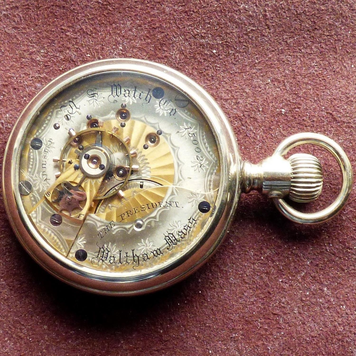 Image of U.S. Watch Co. (Waltham, Mass) The President #150028 Case
