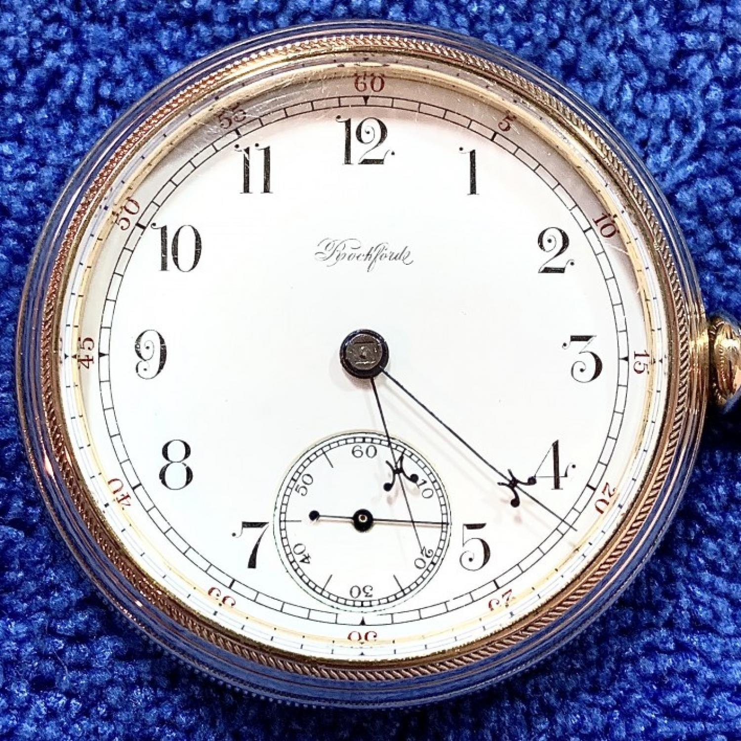 Image of Rockford 15 Ruby Jewels #13801 Dial