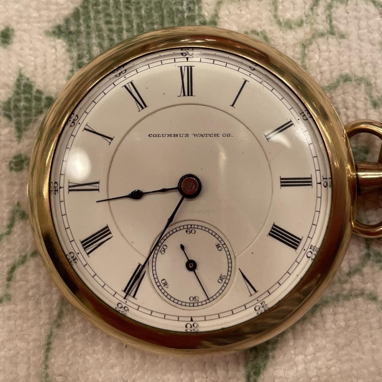 Image of Columbus Watch Co. Unknown #75998 Dial