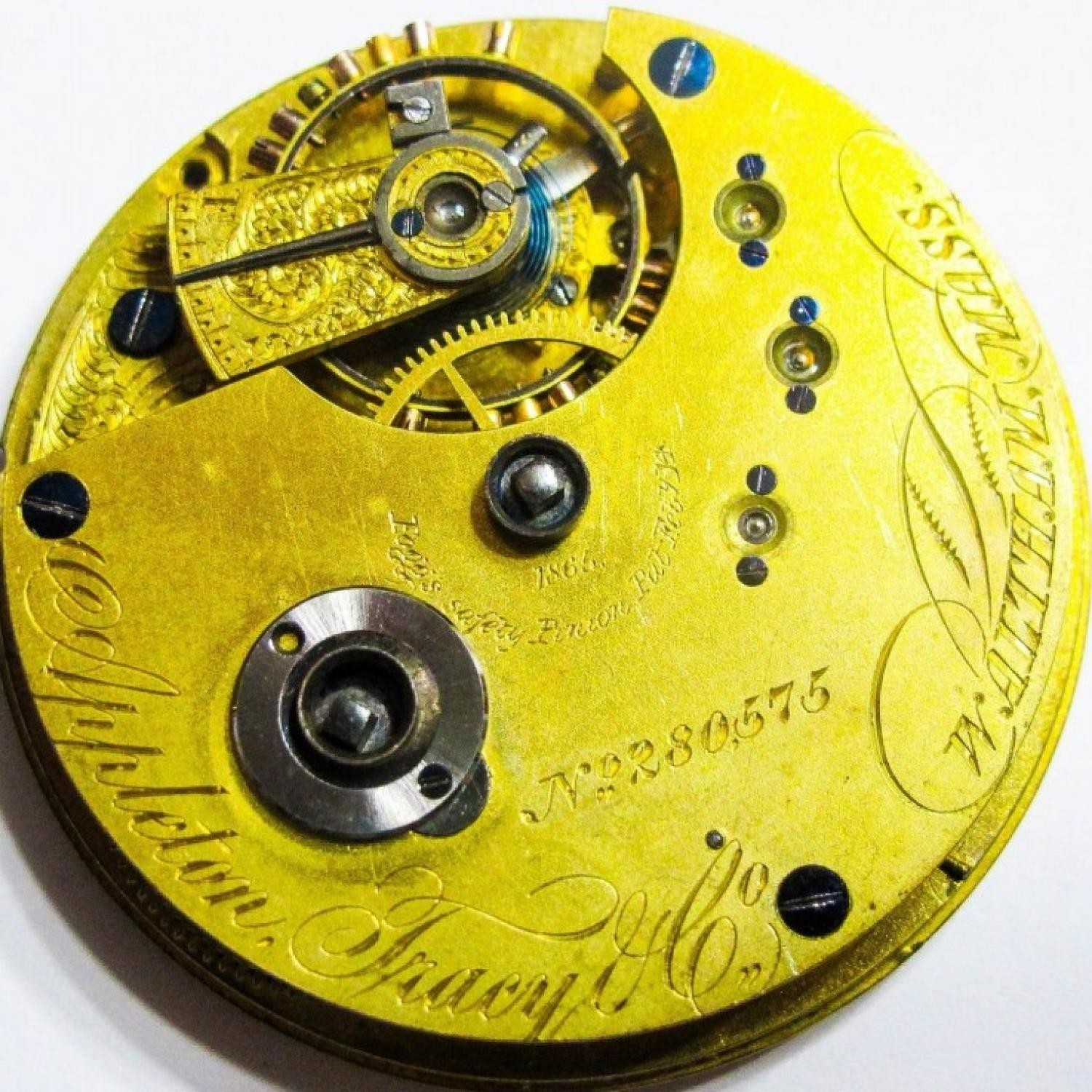 Image of Waltham A.T. & Co. #280575 Movement