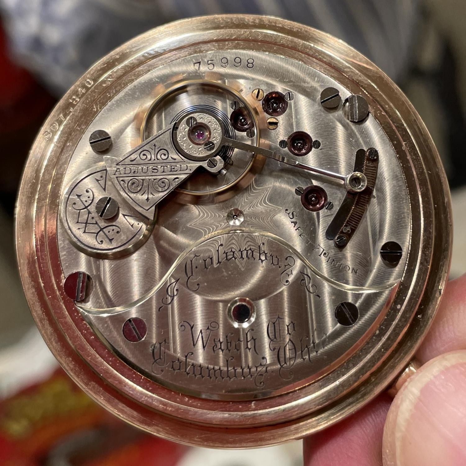 Image of Columbus Watch Co. Unknown #75998 Movement