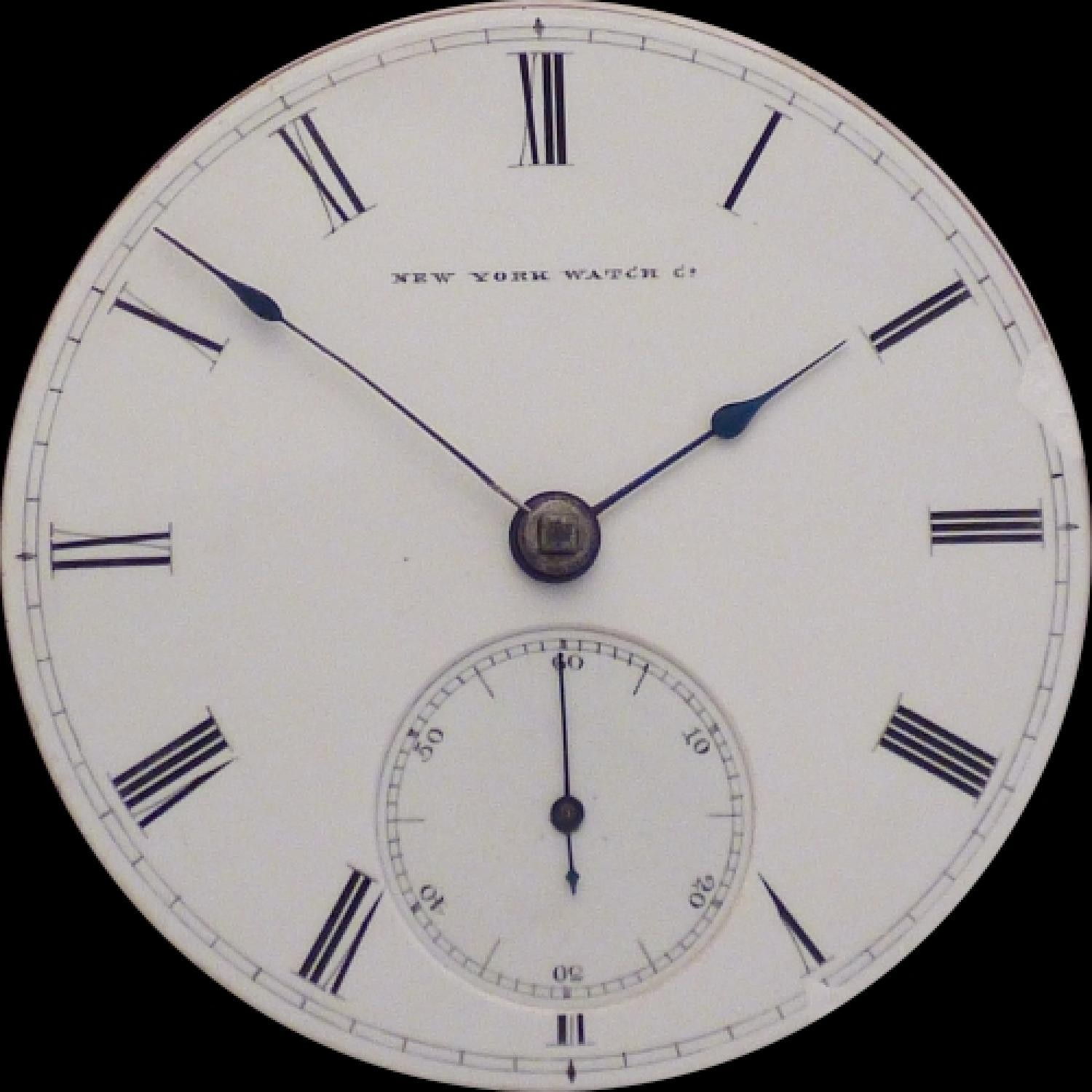 Image of New York Watch Co. Chester Woolworth #19435 Dial
