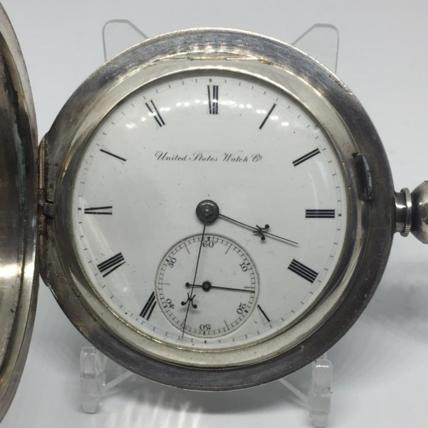 Image of U.S. Watch Co. (Marion, NJ) George Channing #14774 Dial