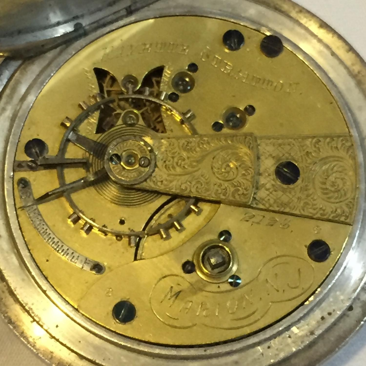 Image of U.S. Watch Co. (Marion, NJ) Fayette Stratton #2123 Movement