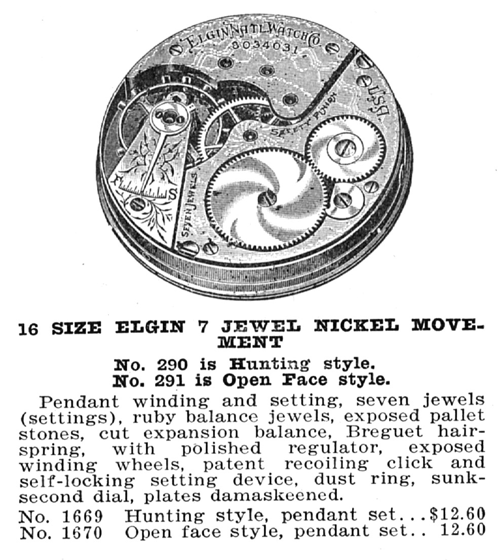 Elgin Grade 291 Advertisement from 1915