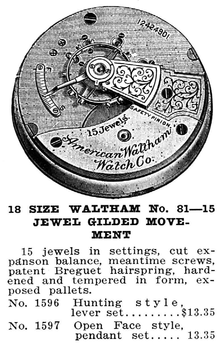 Waltham Grade No. 81 Advertisement from 1915
