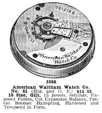 Waltham Grade No. 81 Advertisement from 1914