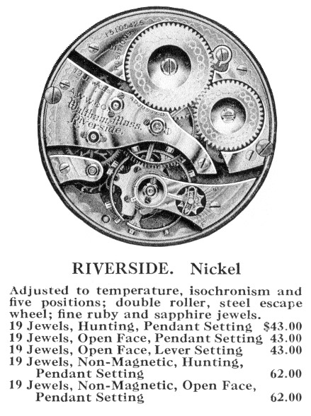 Waltham Grade Riverside Advertisement from 1916