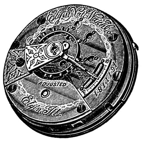 Elgin Grade 126 Pocket Watch Movement