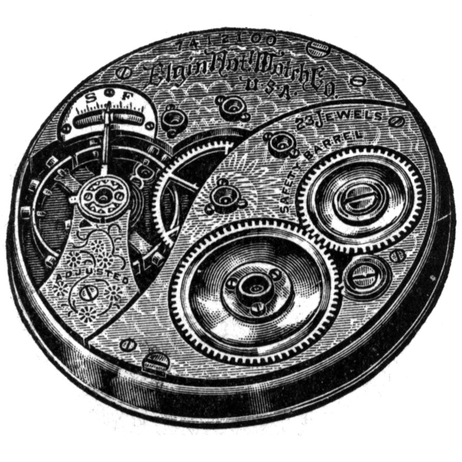 Elgin Grade 190 Pocket Watch Image