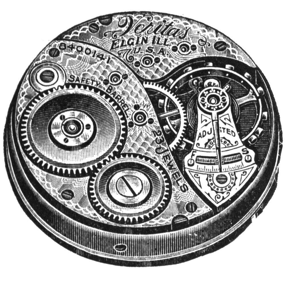 Elgin Pocket Watch Grade 214 #10482504