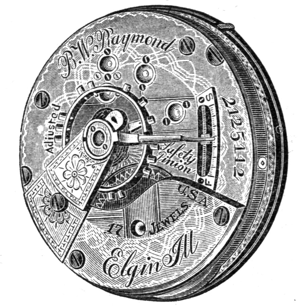 Elgin Grade 27 Pocket Watch Movement