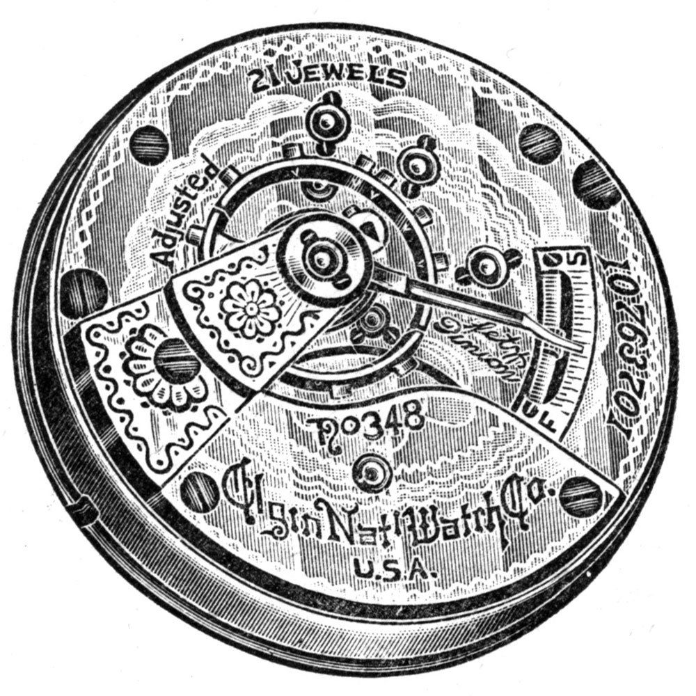 Elgin Grade 348 Pocket Watch Image