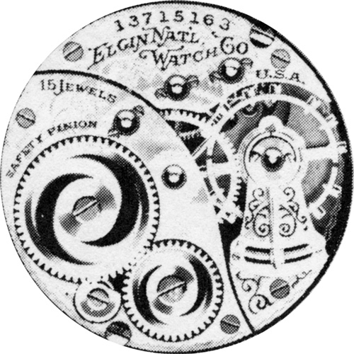 Elgin Grade 355 Pocket Watch Image