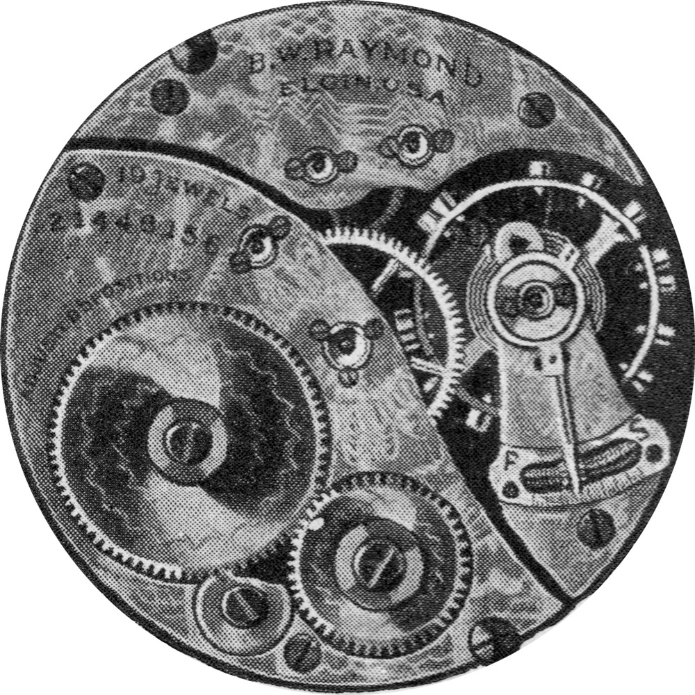 Elgin Grade 455 Pocket Watch Movement