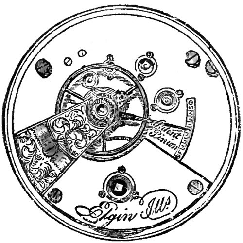 Elgin Grade 55 Pocket Watch Movement