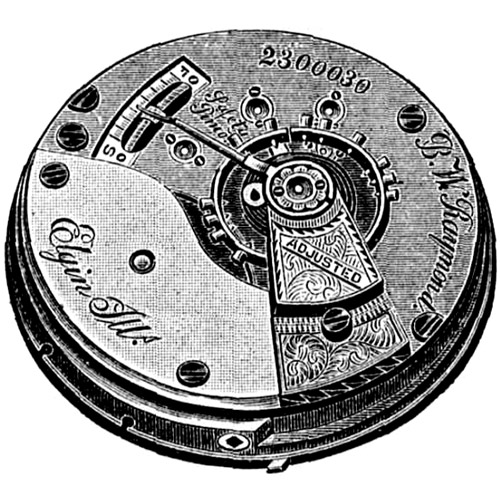 Elgin Grade 77 Pocket Watch Movement