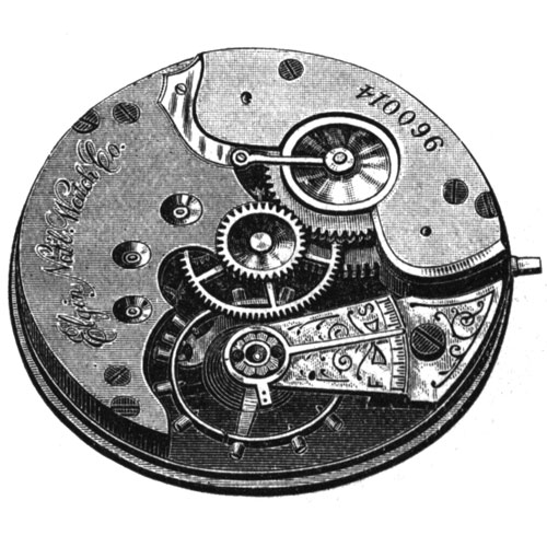 Elgin Grade 93 Pocket Watch Movement