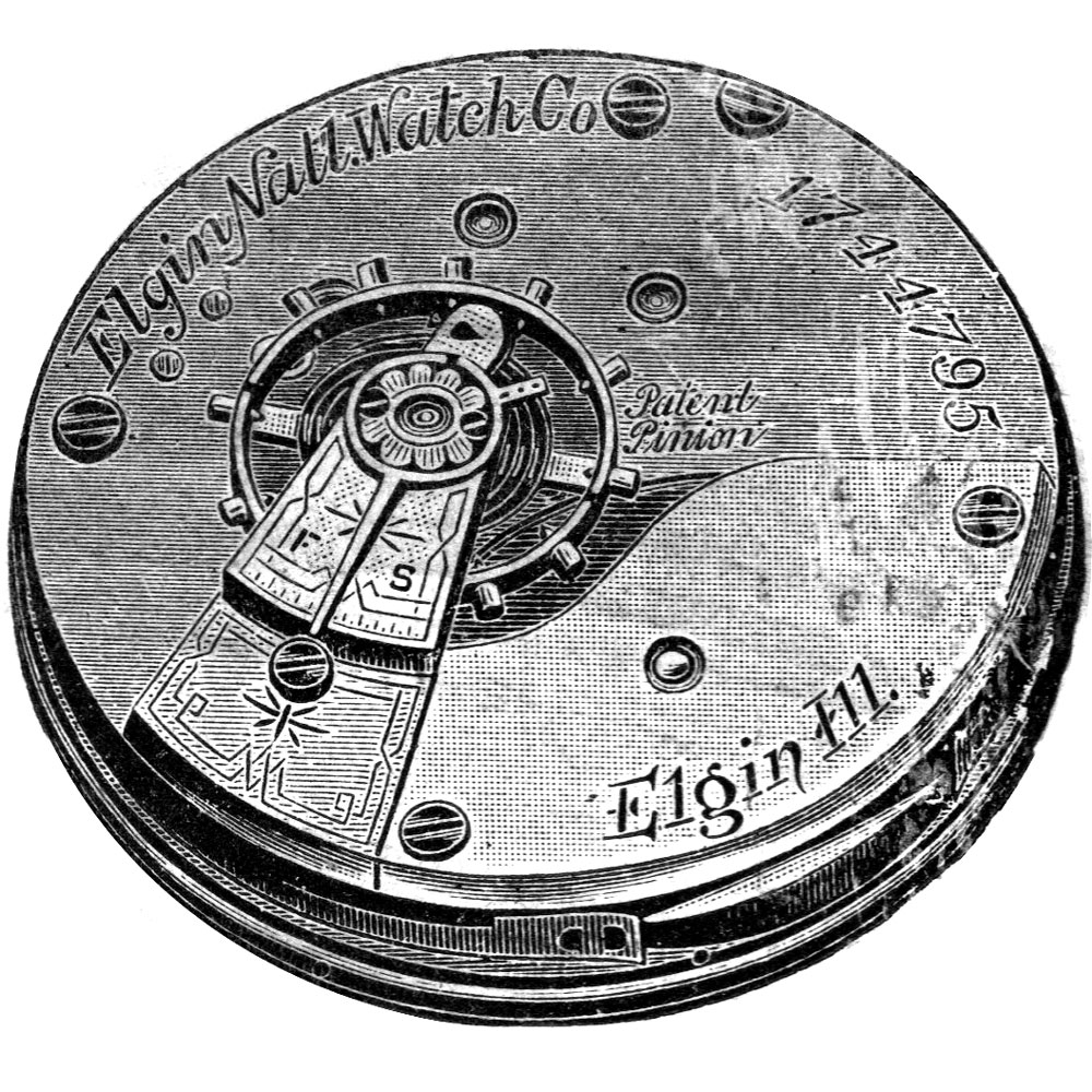 Elgin Grade 96 Pocket Watch Movement