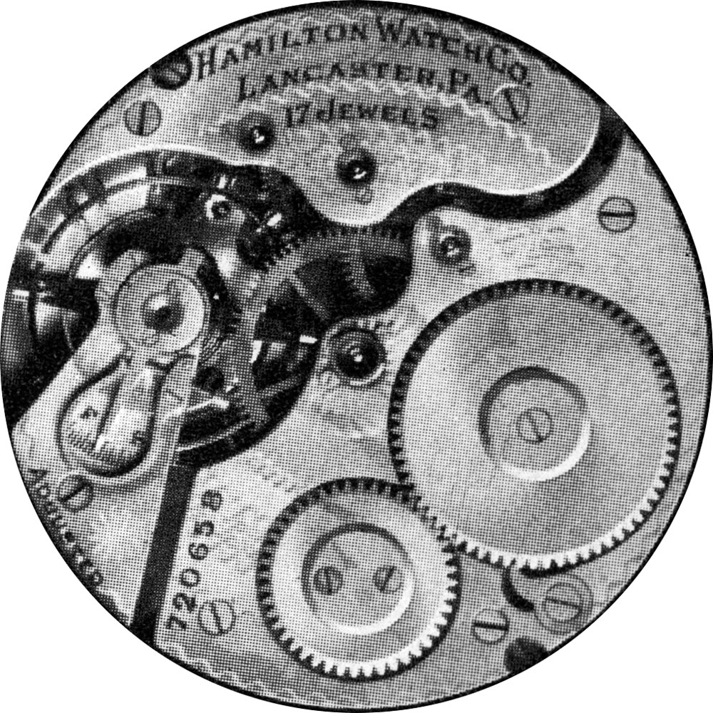 Hamilton Grade 974 Pocket Watch Movement