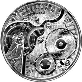 Hamilton Grade 990 Pocket Watch Movement