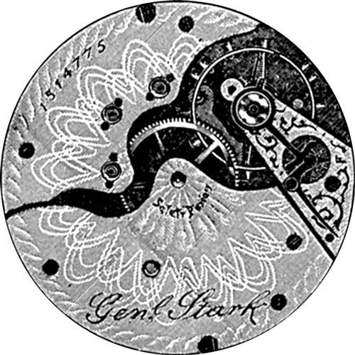 Hampden Pocket Watch Grade Gen'l Stark #1738493