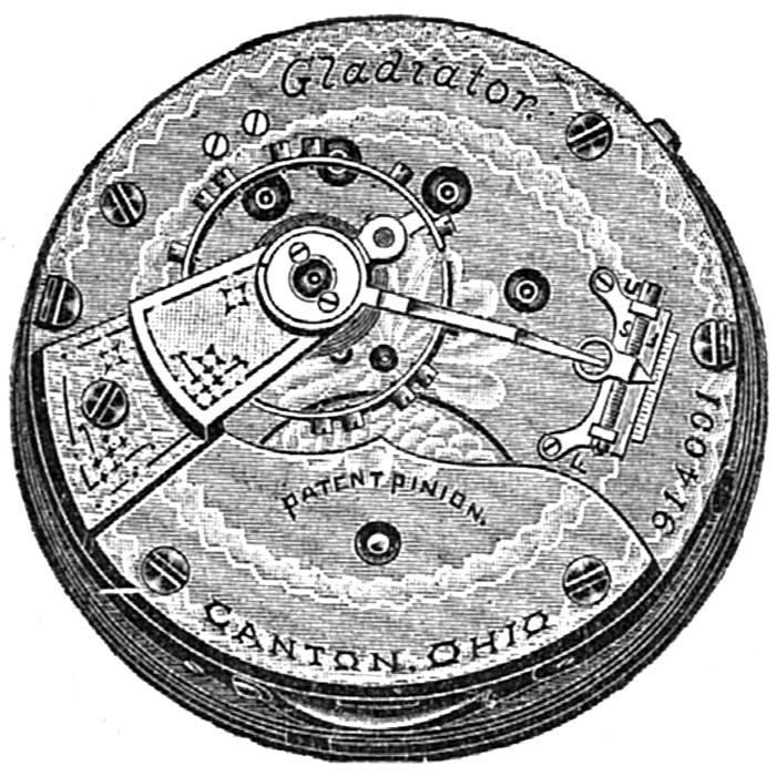 Hampden Pocket Watch Grade Gladiator #778182