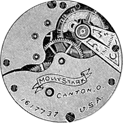 Hampden Grade Molly Stark Pocket Watch Movement