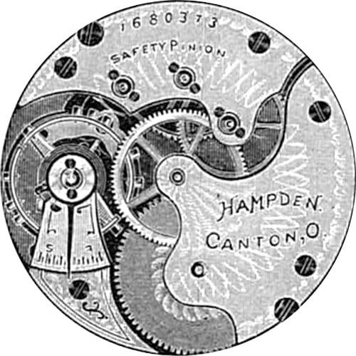 Hampden Pocket Watch Grade No. 206 #536583