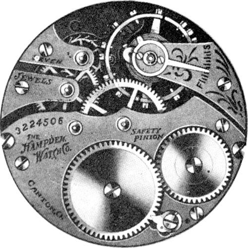 Hampden Pocket Watch Grade No. 5 #3229008