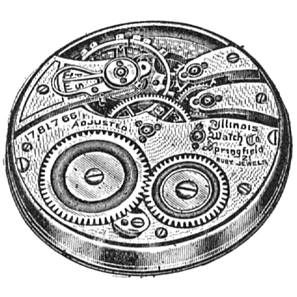 Illinois Grade 299 Pocket Watch Movement