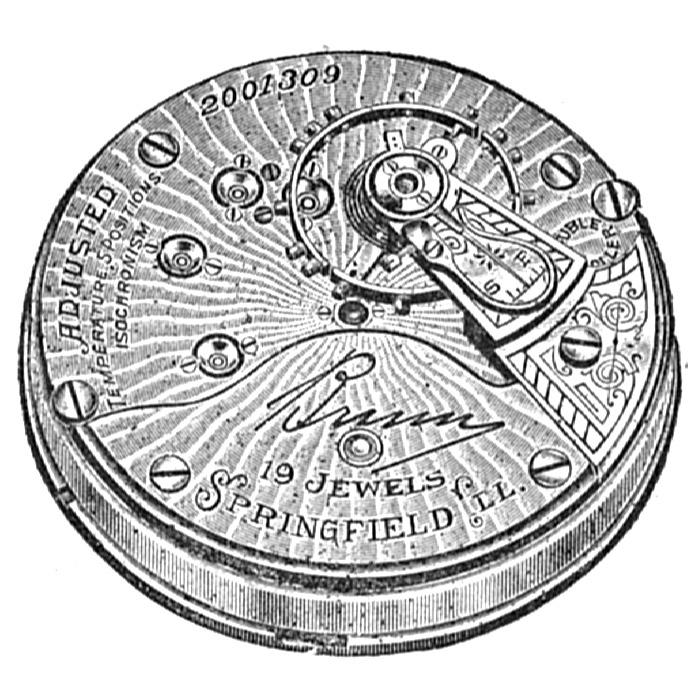 Illinois Grade Bunn Pocket Watch Movement