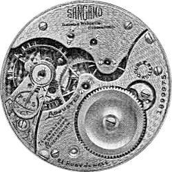 Illinois Grade Sangamo Pocket Watch Movement